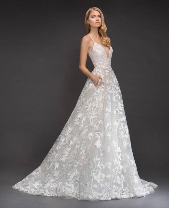 Blush Hayley Paige Fleur De Lis Wedding Gown