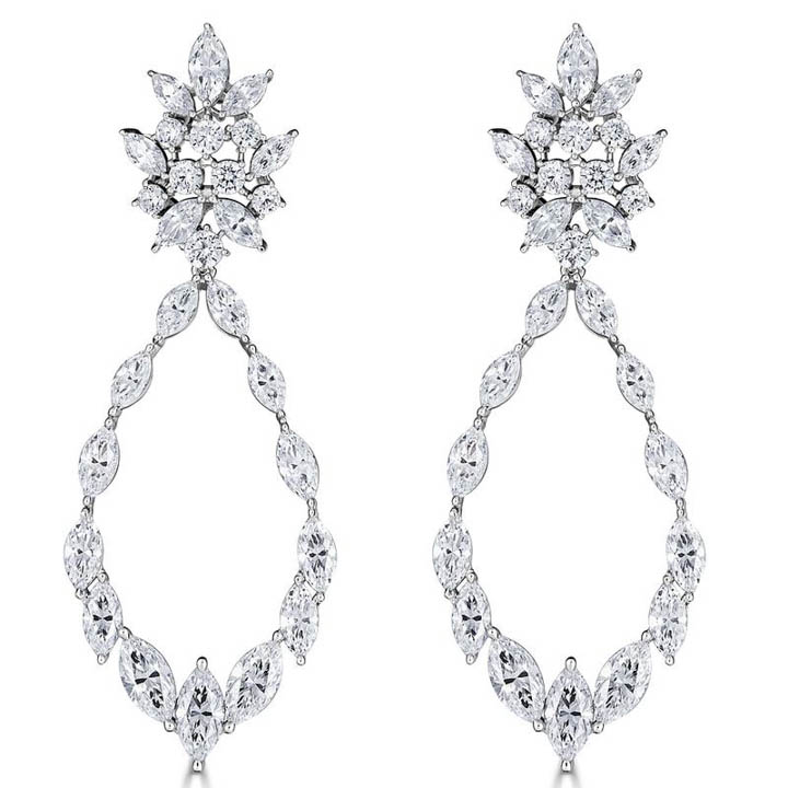 Thomas Laine Wedding Earrings